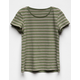 FULL TILT Essentials Stripe Olive Girls Tee