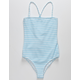 FULL TILT Textured Stripe Girls One Piece Swimsuit