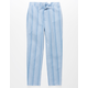 WHITE FAWN Stripe Girls Crop Pants
