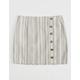 BCNU Stripe Button Front Girls Skirt