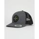HURLEY Trademark Gray & Black Mens Trucker Hat