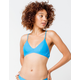 HURLEY Quick Dry Photo Blue Bikini Top