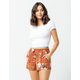 SKY AND SPARROW Floral Womens Shorts