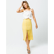 SKY AND SPARROW Button Front Midi Skirt