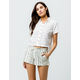 SKY AND SPARROW Stripe Womens Shorts