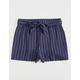 WHITE FAWN Stripe Tie Waist Girls Shorts