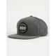 RVCA Navigate Washed Black Mens Snapback Hat