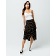 SKY AND SPARROW Floral Button Front Midi Skirt