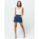ALMOST FAMOUS Button Front High Rise Dark Wash Denim Skirt