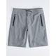 NITROUS BLACK On Top Heather Gray Boys Jogger Shorts