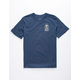 RVCA Bad Palms Navy Boys T-Shirt