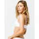 VOLCOM Simply Seamless White Bikini Top
