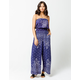 COCO & JAIMESON Navy Womens Tube Jumpsuit