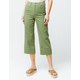 SKY AND SPARROW Twill Crop Womens Wide Leg Pants