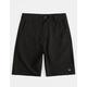 GROM Off Road Black Boys Hybrid Shorts
