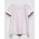 FULL TILT Essentials Stripe White Girls Tee