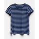 FULL TILT Essentials Stripe Navy Girls Tee