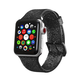ELEMENT WORKS 42mm Black Glitter Silicone Apple Watch Wristband