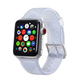 ELEMENT WORKS 42mm Clear Glitter Silicone Apple Watch Wristband