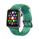 ELEMENT WORKS 42mm Mint Glitter Silicone Apple Watch Wristband