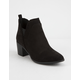 QUPID Topanga Stitch Womens Heeled Booties