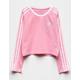 ADIDAS Originals 3 Stripe Pink Girls Crop Tee