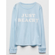 BILLABONG Just Beachy Light Blue Girls Tee