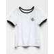 VOLCOM Hey Slims White Girls Ringer Tee