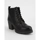 SODA Nevitt Womens Heeled Combat Boots