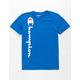 CHAMPION Vertical Script Royal Boys T-Shirt