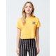 VOLCOM Stone City Yellow Womens Crop Tee