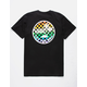 VANS Rainbow Check Palm Black Mens T-Shirt