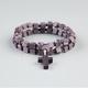 BLUE CROWN 2 Piece Square Bead Cross Bracelets