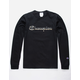 CHAMPION Camo & Gold Script Logo Black Mens T-Shirt