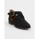 QUPID Tuxedo Buckle Black Womens Booties
