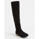 OLIVIA MILLER Black Girls Over The Knee Boots