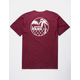 VANS Chain Link Palm Burgundy Mens T-Shirt