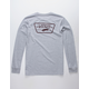 VANS Full Patch Back Heather Gray Boys T-Shirt