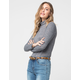 SKY AND SPARROW Marled Turtleneck Womens Top