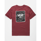 VANS Print Box Tiger Burgundy Boys T-Shirt