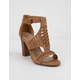 DELICIOUS Runway Tan Womens Heeled Sandals