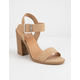 SODA Talbert Natural Womens Heeled Sandals