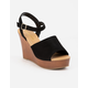CITY CLASSIFIED Supply Black Womens Wedges