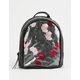 Floral Clear Black Mini Backpack