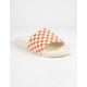 VANS Checkered Rust Womens Slide Sandals