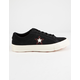 CONVERSE One Star Love Metallic Black Womens Shoes