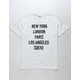 NEON RIOT City Swirl White Mens T-Shirt