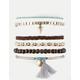 FULL TILT 6 Piece Tassel & Bead Bracelets