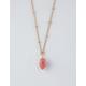 FULL TILT Pink Crystal Drop Necklace
