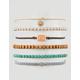 FULL TILT 6 Pack Flower & Turquoise Bracelets
